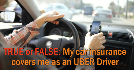 UBER car insurance coverage